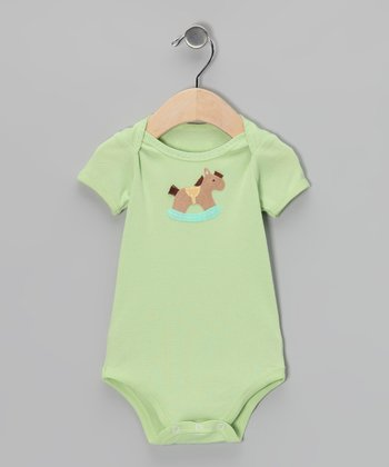 Cucumber Rocking Horse Bodysuit