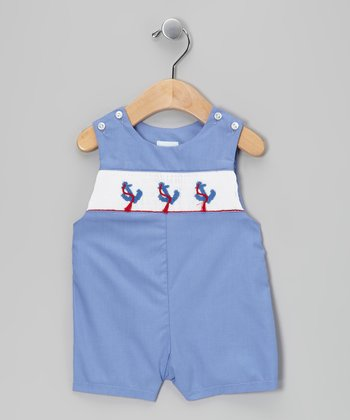 Blue Anchor Smocked John Johns - Toddler