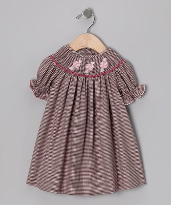 Pink & Brown Peppermint Bishop Dress - Infant & Toddler