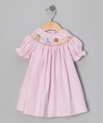 Pink Toy Parade Bishop Dress - Girls
