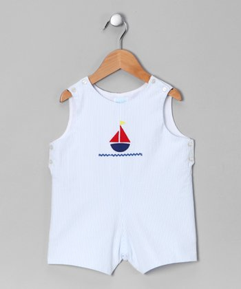 Blue Stripe Regatta Shortalls - Toddler