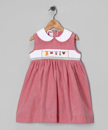 Red Gingham Beach Smocked Dress - Infant, Toddler & Girls