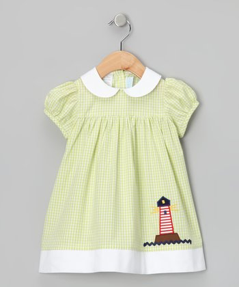 Green Gingham Lighthouse Dress - Infant & Toddler