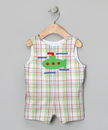 Green Submarine Shortalls - Toddler