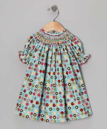 Aqua Ornament Bishop Dress - Infant, Toddler & Girls
