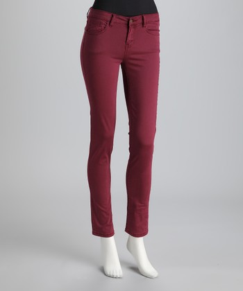 Red Jewel Tone Skinny Jeans