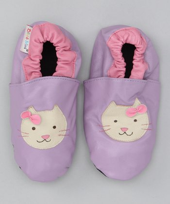 Bibi & Mimi Purple Kitty Booties