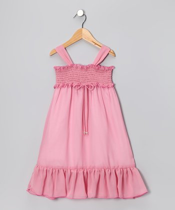 Pink Chiffon Maxi Dress  - Toddler & Girls