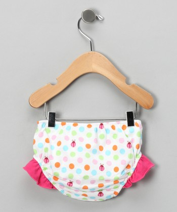 Pink Ladybug Swim Diaper - Infant