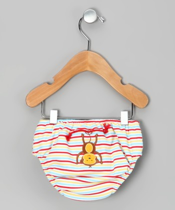 Red Circus Monkey Swim Diaper - Infant