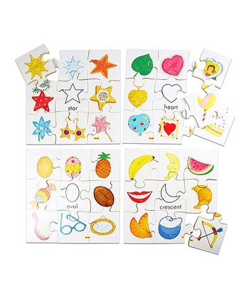 Stars & Crescents Educational Shape Puzzle
