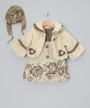 Ivory Jacket & Dress - Toddler & Girls