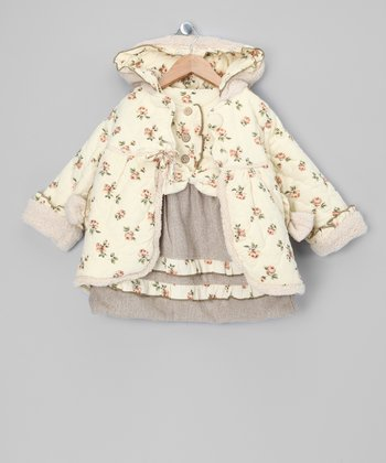 Ivory Floral Dress & Jacket - Toddler & Girls