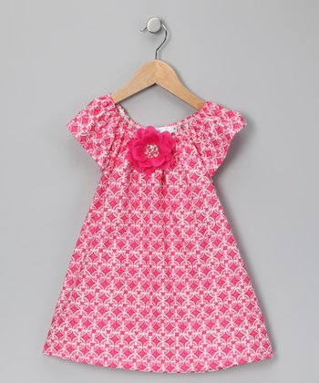 Pink & White Flower Dress - Infant, Toddler & Girls