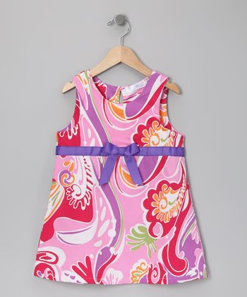 Pink & Purple Swirl Dress - Infant, Toddler & Girls