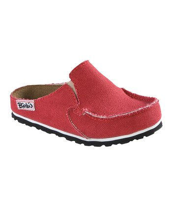 Red Classic Skipper Mule - Kids