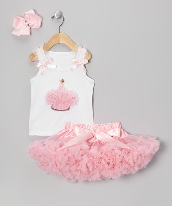 Light Pink One Candle Pettiskirt Set - Infant & Toddler
