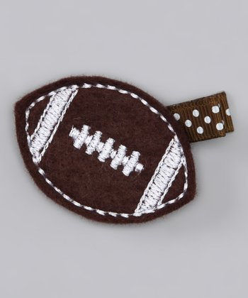 Brown Football Felt Clip