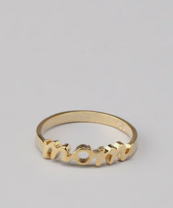 Gold 'Mom' Ring