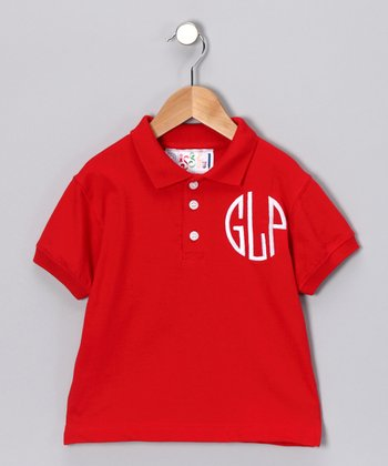 Red Personalized Polo - Toddler