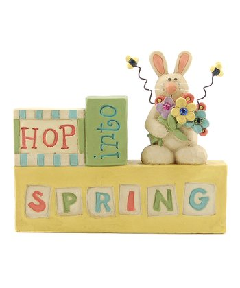 'Hop Into Spring' Bunny Block Collectible