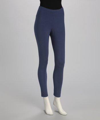 Blue Canoe Denim Blue Organic Leggings