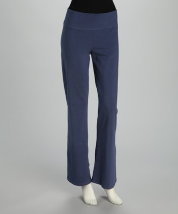 Blue Canoe Denim Blue Organic Yoga Pants