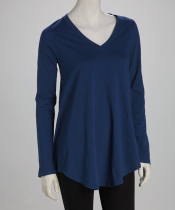 Blue Canoe Cobalt Organic V-Neck Top