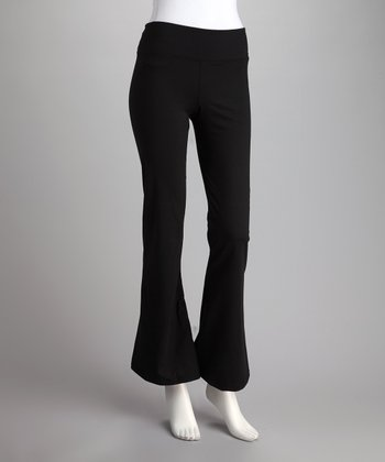 Black Flared Organic Lounge Pants