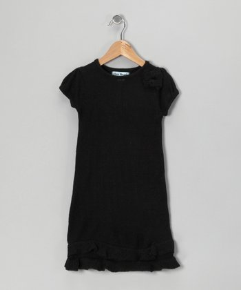 Black Bow Sweater Dress - Infant & Girls