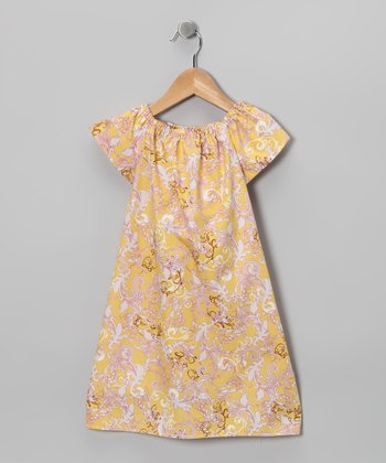 Yellow Short-Sleeve Sophie Dress - Toddler