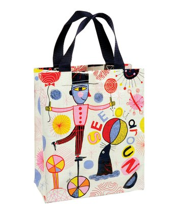 Blue Q White 'See You Around' Handy Tote