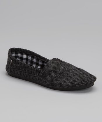 Blue Suede Shoes Black Herringbone Timster Shoe