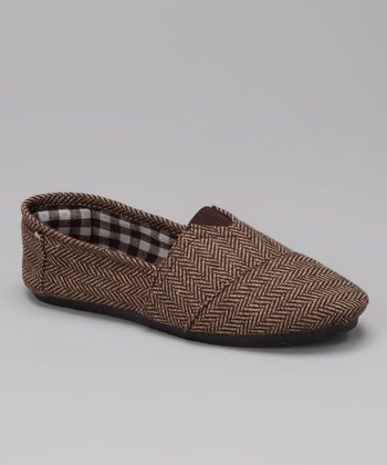 Brown Herringbone Timster Shoe