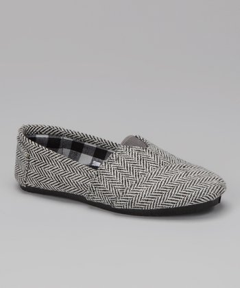 Blue Suede Shoes Gray Herringbone Timster Shoe