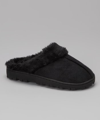 Blue Suede Shoes Black Yola Slipper