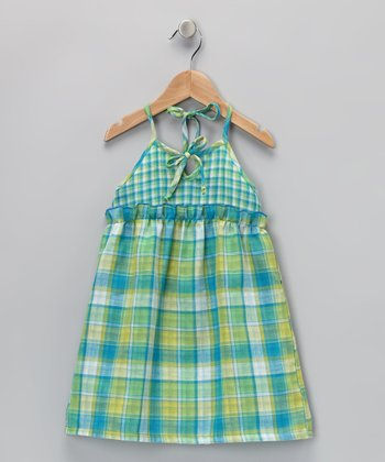 Green Plaid Jenny Dress - Toddler