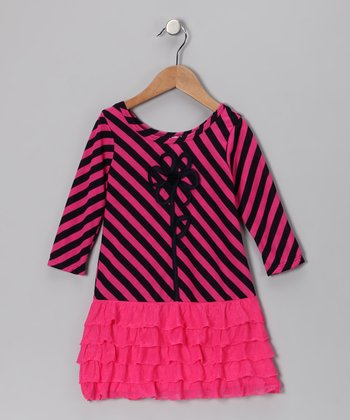 Pink Drop-Waist Lauren Dress - Toddler & Girls