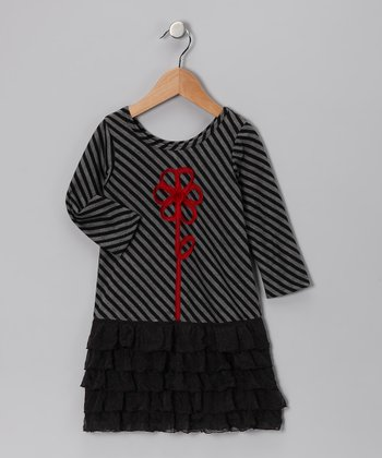Black Drop-Waist Lauren Dress - Toddler