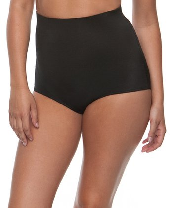 Black High-Waist Shaper Briefs - Women & Plus