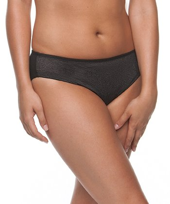 Black Lace Bikini Briefs - Women & Plus