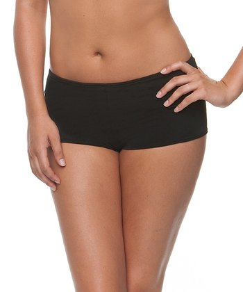 Black Microfiber Boyshorts - Women & Plus