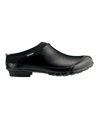 Black Waterproof Rose Clog