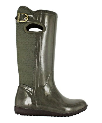 Green Buckle Drake Boot