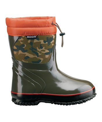 Green Camo McKinley Rain Boot - Kids