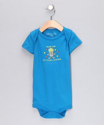 Blue 'Take Me to Your Leader' Bodysuit - Infant