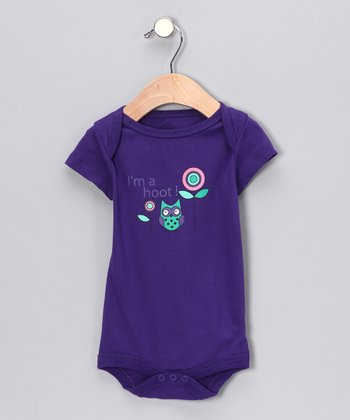 Purple 'I'm a Hoot' Bodysuit - Infant