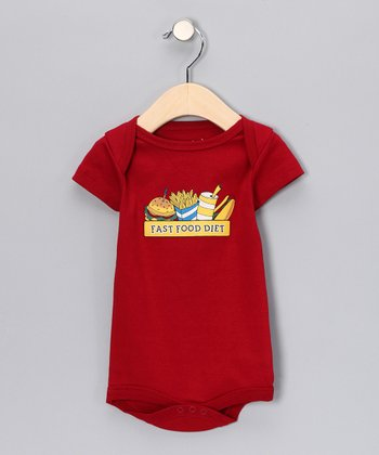 Red 'Fast Food Diet' Bodysuit - Infant