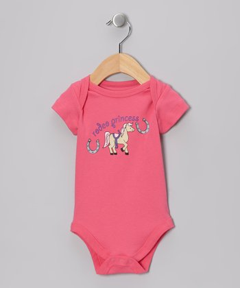 Pink 'Rodeo Princess' Bodysuit - Infant