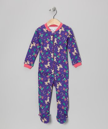 Purple Rodeo Princess Footie - Infant